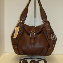 Michael Kors Brown Leather Large Hobo Shoulder Handbag  Photo