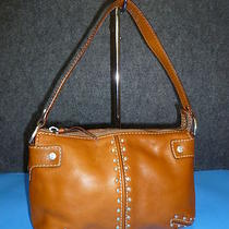 Michael Kors Brown Leather Studded Hobo / Shoulder Bag Small Photo