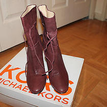 Michael Kors Burgundy-Wine Parker Boots Size 9m Photo