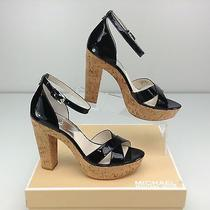 Michael Kors Camilla Black Shoe Size 9 M Heels Sandal Platform Pump Ankle Strap Photo