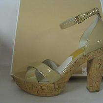 Michael Kors - Camilla Nude Ankle Strap Platform Heel Sz 9.5 Retails 145 Photo