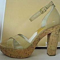Michael Kors - Camilla Nude Ankle Strap Platform Sandal Sz 9 Retails 145 Photo