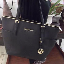 Michael Kors Campbell Tote Black Saffiano Leather Photo
