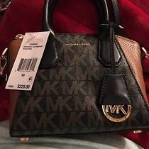 Michael Kors Campbell Xs Satchel Black/dark Brown New Item Hot Seller Photo