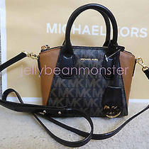 Michael Kors Campbell Xs Satchel Crossbody Messenger Bag Purse Black Brown New Photo