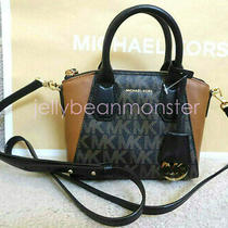 Michael Kors Campbell Xs Satchel Crossbody Messenger Bag Purse Black Brown New Photo