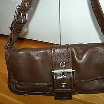 Michael Kors Chocolate Brown Leather Hobo Purse  Xlnt Photo