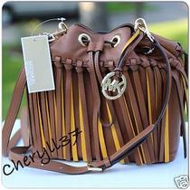 Michael Kors Christy 30s5gthm2u Luggage Sun Md Drws Messenger Leather Bag Purse Photo