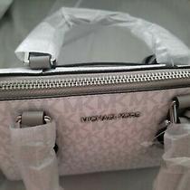 Michael Kors Ciara Medium Saffiano Leather Messenger Bag Color Bright White Photo