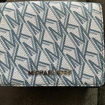 Michael Kors Classic Blue Jet Set Small Compact Wallet Photo