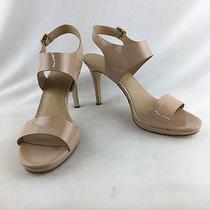 Michael Kors Claudia Mide Light Blush Patent Heeled Sandal Size 9m Rh 2461 Photo