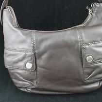 Michael Kors Coffee Brown Leather 100% Authentic Lg Hobo Bag Purse 348 New  Photo