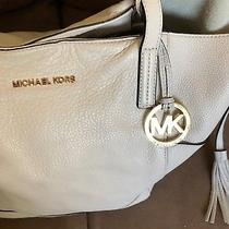 Michael Kors Cream Beige Leather Large Slouchy Hobo Shoulder Bag Purse Tote Photo