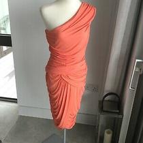 Michael Kors Designer High End Collection Coral Ruched Dress Size Us 8 (12) Photo