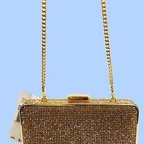 Michael Kors 'Elsie' Blush Topaz Crystal Box Clutch Shoulder Bag Msrp 298.00 Photo