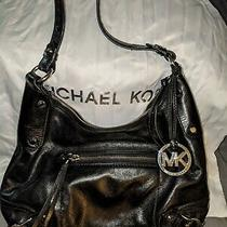 Michael Kors Fallon Hobo Small Handbag Black Leather Photo