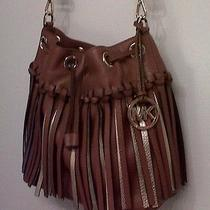 Michael Kors Fringe Gold/tan Christy Nwt Photo