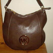 Michael Kors - Fulton Large Leather Hobo - Brown Photo