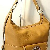 Michael Kors Fulton  Logo Tan/camel Genuine Leather Hobo Shoulder Purse Bag Photo