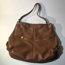 Michael Kors Genuine Leather Hobo Purse Tote Brown Shoulder Photo