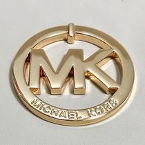 Michael Kors Gold Large Metal  Mk Logo  Gold   Nwot Photo
