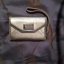 Michael Kors Gold Leather Wallet Case Iphone 3gs 4 4s Wristlet 78nw Euc  Photo