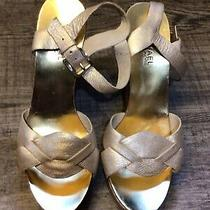Michael Kors Gold Leather Wedge Sandals New Sz. 8 Photo