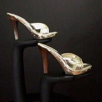 Michael Kors - Gold Metallic Leather Platform Pumps Size 5 1/2 Photo