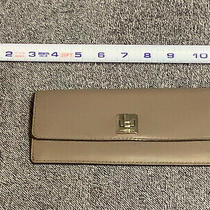 Michael Kors Gray Leather Carryall Clutch Wallet  Photo