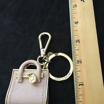 Michael Kors  Hamilton Key Purse Charms/key Ring Fob in Blush-Taupe/gold Tone Photo