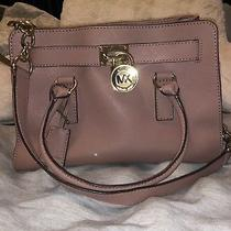 Michael Kors Hamilton Satchel Bag With Gold Chain - Blush Pink Photo
