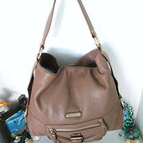 Michael Kors Handbag Brown Leather Shoulder Hobo Bag With Gold Hardware  Photo