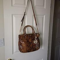 Michael Kors Handbag Sand Python Snake Browns Satchel Handbag Euc Photo