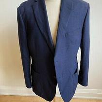 Michael Kors Hudson Bay Textured Blazer Men Sz 44 Navy Blue  Photo