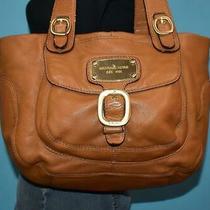 Michael Kors Hudson Downtown Brown Leather Tote Shoulder Purse Shopper Bag Photo