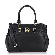 Michael Kors Hudson Leather Black Large Tote Satchel Bag/purse New Photo