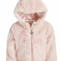 Michael Kors Infant Girls Hooded Faux-Fur Jacket Pink 24 Months Photo