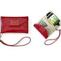 Michael Kors Iphone 4/ 4s Wallet Wristlet Case in Red Patent Leather Photo