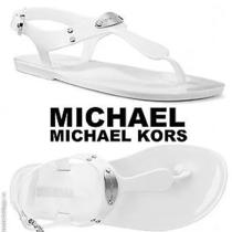 Michael Kors Jelly Plate White Women's Shoes Sandals  Sizes 5 Photo