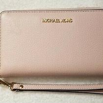 Michael Kors Jet Set Travel Lg Flat Mf Leather Phone Case in Powder Blush - Nwt Photo