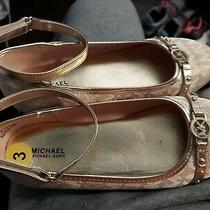 Michael Kors Jinny Gold/blush Ballet Flats Slip-on Shoes Size 3 Youth Supe Cute Photo