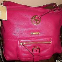 Michael Kors Lacquer Pink Austin Hobo Handbag Photo