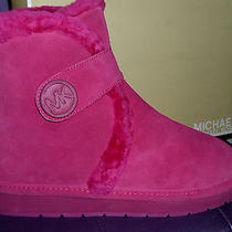 Michael Kors Lacquer Pink Suede Winter Bootie Fur Lined Size 11 M Photo
