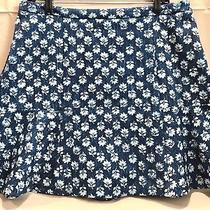 Michael Kors Ladies Floral Print Skirt  Blue Multi Size 12 Nwt Photo