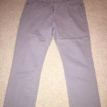 Michael Kors Ladies Gray Cropped Capri Jeans Pants Sz 8 Ln Worn Once  Photo