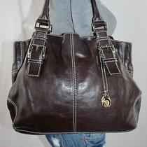 Michael Kors Large Brown  Leather Shoulder Hobo Tote Satchel Slouch Purse Bag Photo
