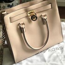 Michael Kors 'Large Hamilton' Saffiano Leather Tote - Ballet/blush (Light Pink) Photo
