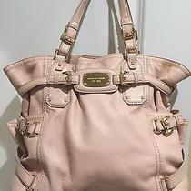 Michael Kors Large Leather Handbag Blush Pink With Gold Accents Photo