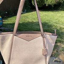 Michael Kors Large Shoulder Bag - Blush/taupe With Rose Gold Photo
