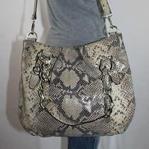 Michael Kors Large Snake Leather Shoulder Hobo Tote Satchel Slouch Purse Bag Photo